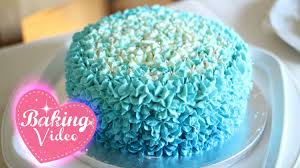 blue buttercream ombré cake mia u0027s baby shower cake