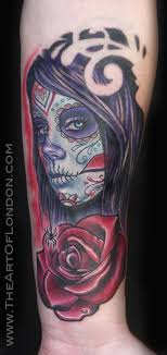 day of the dead w by reese tattoonow
