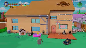 simpsons house u0026 back yard intro lego dimensions youtube