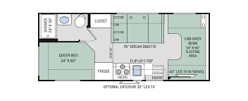 four winds class c motorhomes floor plans thor motor coach