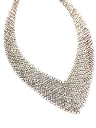 tiffany sterling necklace images Elsa peretti for tiffany co sterling silver mesh bib necklace jpg
