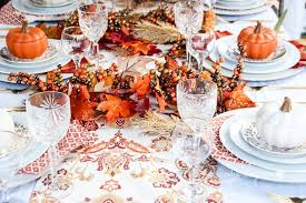 gold orange thanksgiving tablescape ideas this worthey