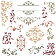 swirl floral ornaments vector ai format free vector