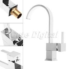 aliexpress com buy chrome brass kitchen faucet square swivel