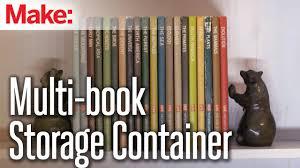 diy hacks u0026 u0027s multi book storage container youtube