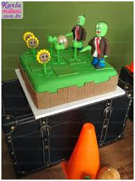 Plants Vs Zombies Cake Decorations Kara U0027s Party Ideas Plants Vs Zombies Themed Birthday Party