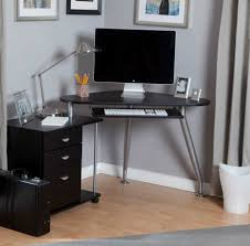 Black Corner Computer Desks For Home Uncategorized Furniture Black Corner Computer Desk For Home With