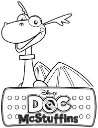doc mcstuffins stuffy dragon coloring u0026 coloring pages