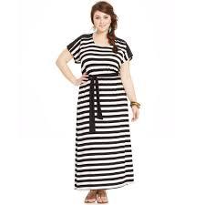 american rag plus size striped cutoutback maxi dress in black lyst
