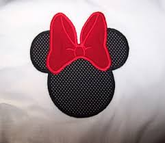 custom minnie mouse shirt solid red big bow tiny black