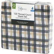 Best Thread Count For Bedding Mainstays 120 Thread Count Bedding Sheet Set Multiple Colors