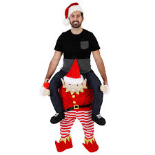 Christmas Piggyback Ride Elf Costume Ugly Christmas Sweaters