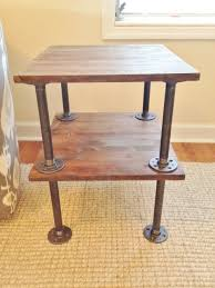 handmade tables for sale industrial style steel pipe handmade side table for sale on etsy
