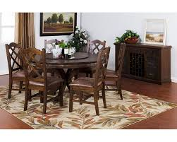 dining set w lazy susan table savannah by sunny designs su 1365acs