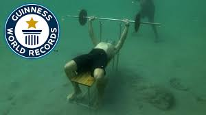 World Bench Press Record Spotlight Most Bench Presses Underwater Youtube