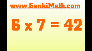 genkimath com 7 times table song multiplication tables youtube