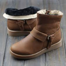 womens boots 100 s winter boots 100 genuine leather ankle boots plush