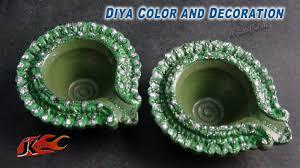 diy how to decorate diwali diya easy diwali home decoration