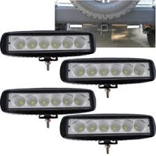 led security light bar 4x 7inch 72w cree led work light bar flood offroad atv fog truck