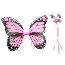 baby kids fairy butterfly wings halloween angel fancy dress