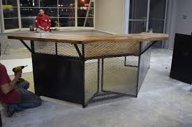 Custom Made Reception Desk Hand Crafted Industrial Style Reception Desk By Light Of The World