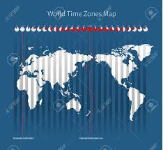 World Time Map World Time Zones Map Royalty Free Cliparts Vectors And Stock