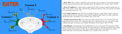 ewr terminal map where to eat at newark liberty airport ewr eater ny
