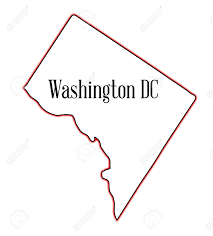Map Of State Of Washington by Outline Map Of The State Of Washington Dc Over A White Background
