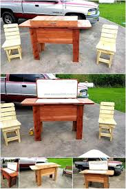 coffee table with cooler repurposed wooden pallets cooler plan wood pallet furniture