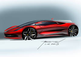 car ferrari drawing ferrari concept design sketch by vadim artemiev car u0026 machine