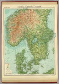 Scandinavia Blank Map by Southern Scandinavia U0026 Denmark David Rumsey Historical Map