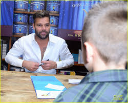 ricky martin flashes chest hair for u0027santiago u0027 signing photo