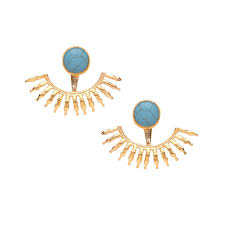 jacket earrings ottoman turquoise firecracker ear jacket earrings