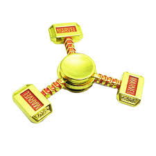 thor hammer shape zinc alloy fidget tri spinner 3 80 free