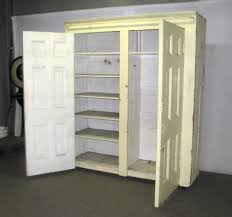 Free Standing Closet With Doors This Would Work Better Than Building In A Closet Yes Storage