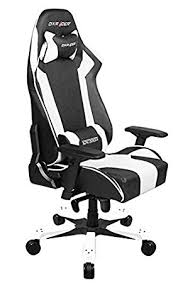 siege dxracer dxracer king series gaming chair black white oh ks06 nw amazon co