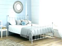 White Metal Kingsize Bed Frame White Metal Bed Frame Juniorderby Me
