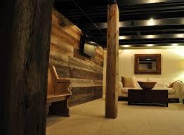 rustic basement ideas rustic basement ideas with gray barn wall contemporary sleeper