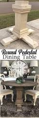 Free Woodworking Plans Small End Table by Farmhouse Style Round Pedestal Table Free Woodworking Plans