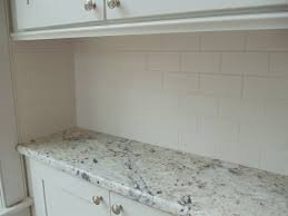 Subway Tiles Backsplash Kitchen Matte Subway Tile White Granite White Cabinets Stainless