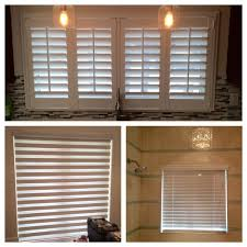 plantation shutters throughout home windows zebra shades on doors