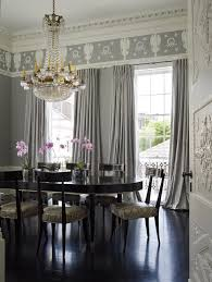 Curtain Crown Molding White And Black Curtains Dining Room Janie Molster Design