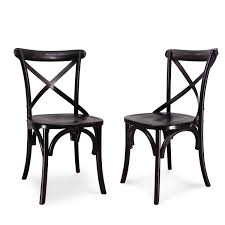 Vintage Style Patio Furniture - joveco vintage style solid wood dining chair set of 2 jch09