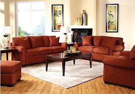 Living Room With Orange Sofa Orange Sofa And Loveseat Pulie Durblend Ornge Orange Sofa And