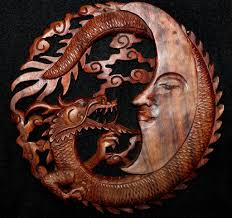 wood wall carvings crescent moon carved balinese wood wall panel