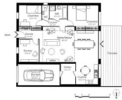 plan plain pied 5 chambres délicieux plan de maison 5 chambres 2 plan maison cubique de