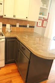 Cement Kitchen Countertops Kitchen Diy Concrete Kitchen Countertops A Step By Tutorial