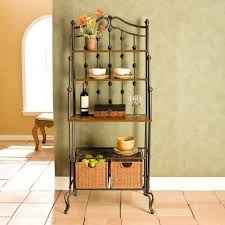 Metal Bakers Rack With Wine Storage Wooden Bakers Rack With Wine Storage And Drawers Bakers Rack For