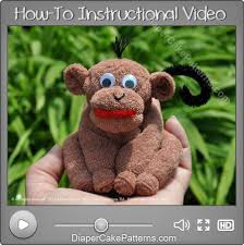 how to make a washcloth monkey instructional video diapers