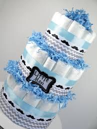 diaper cake little man mustache light blue u0026 chevron grey baby